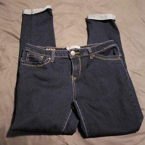 Hot kiss skinny cuffed jeans